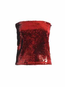 Alexandre Vauthier Red Sequined Mini Skirt