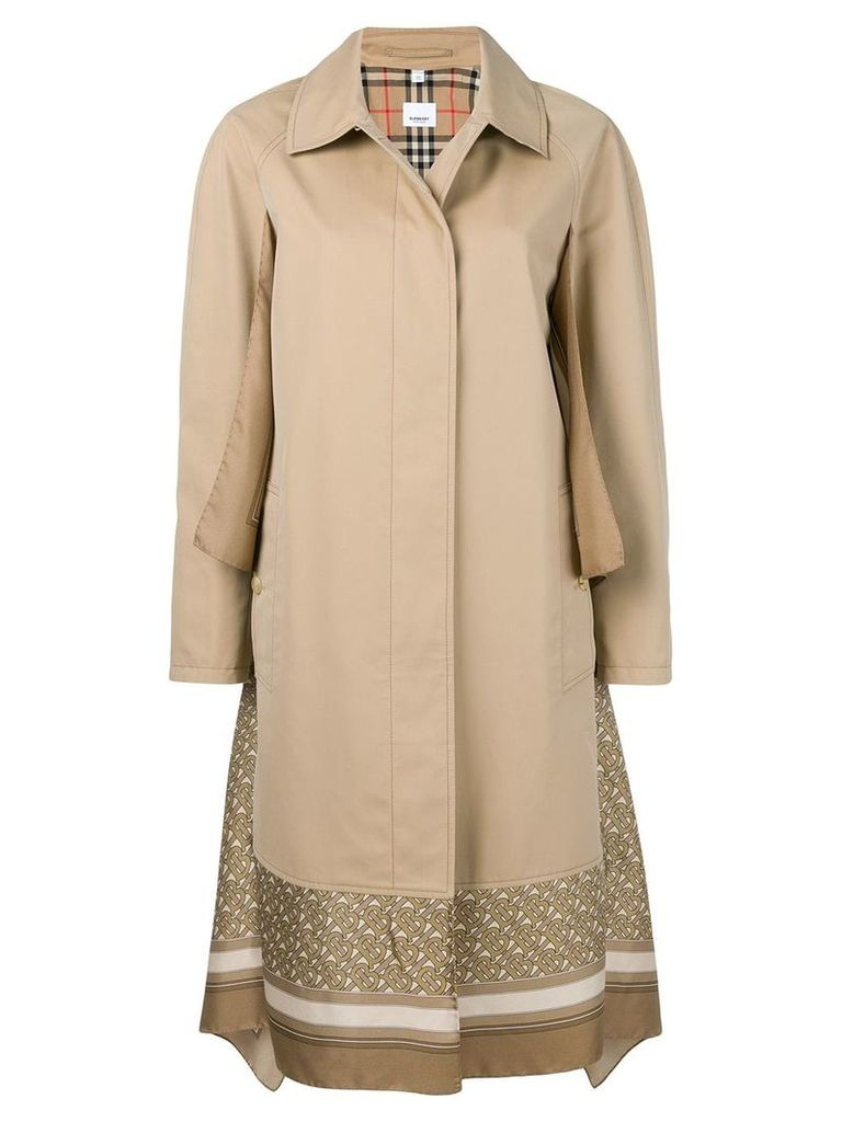Burberry Scarf Detail Trench Coat
