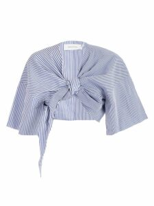 MarquesAlmeida Tie Front Cropped Top