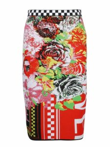 Versace Printed Knit Pencil Skirt