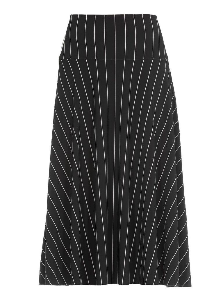 Norma Kamali Striped Skirt