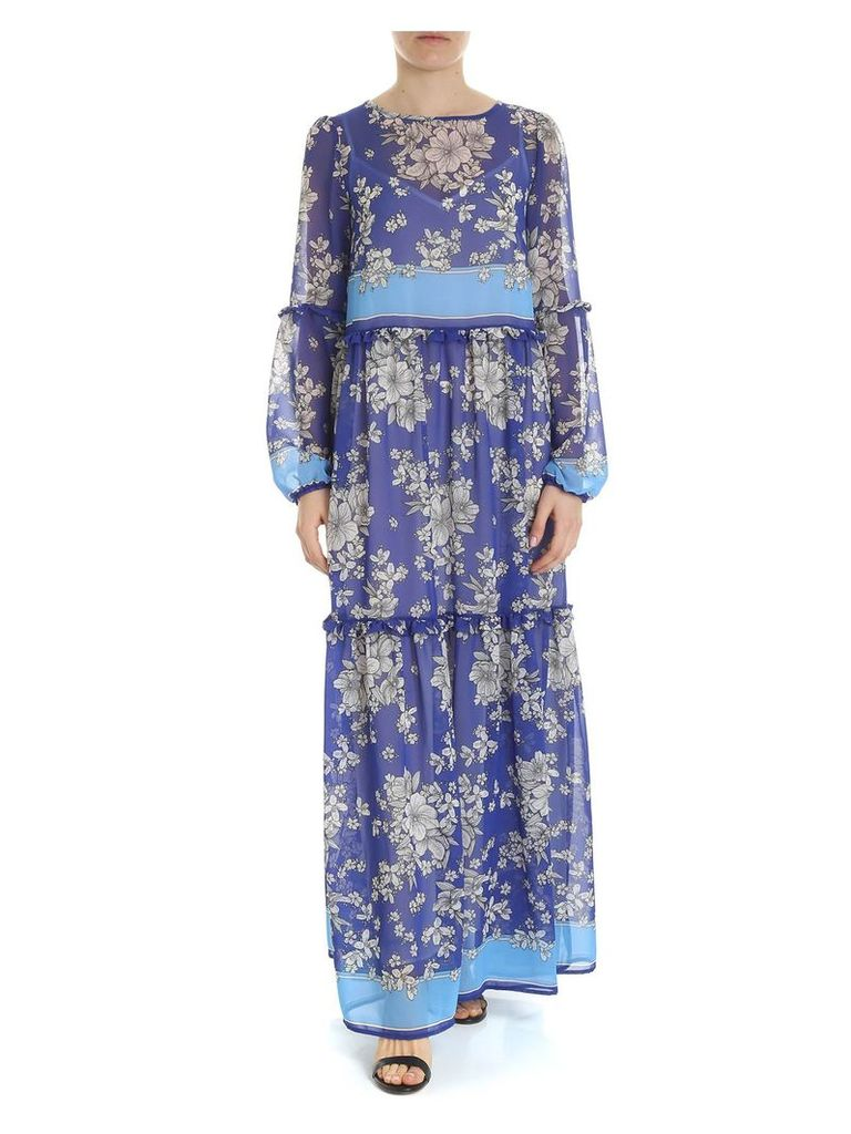 Parosh Floral Georgette Dress