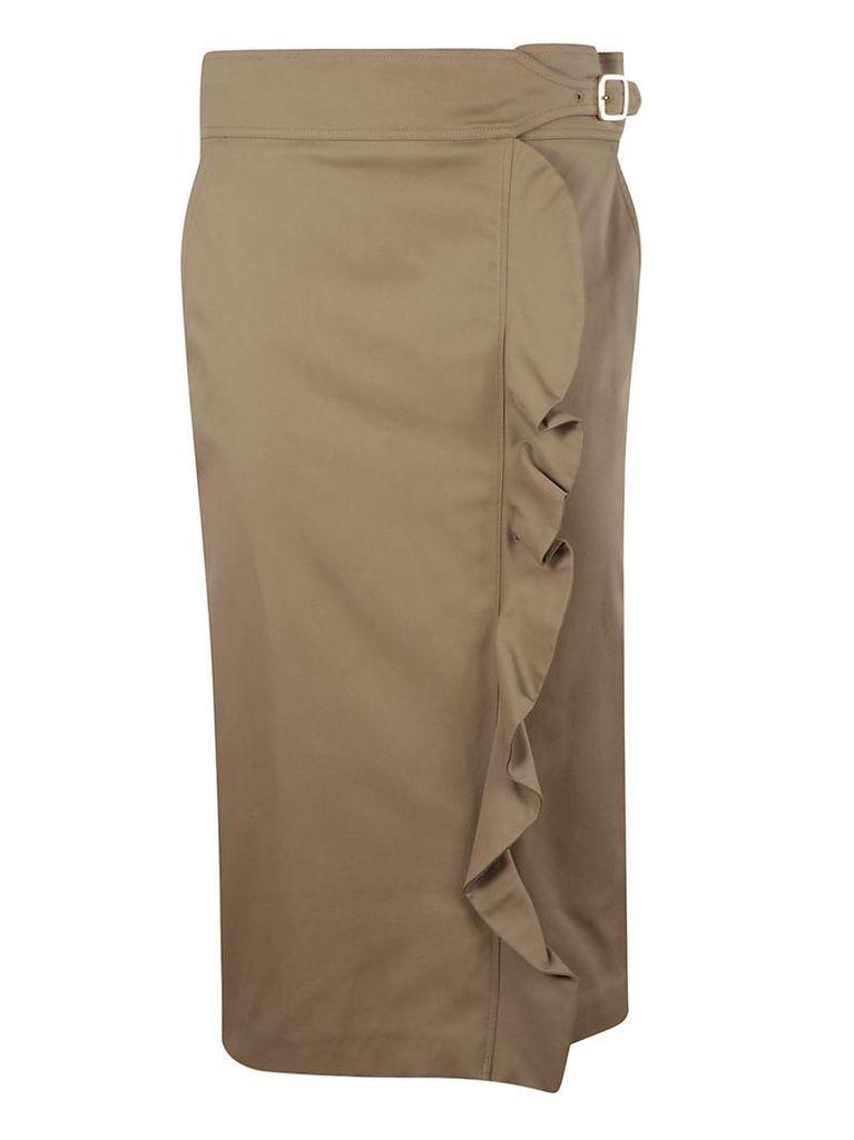 Max Mara Ruffled Detail Skirt