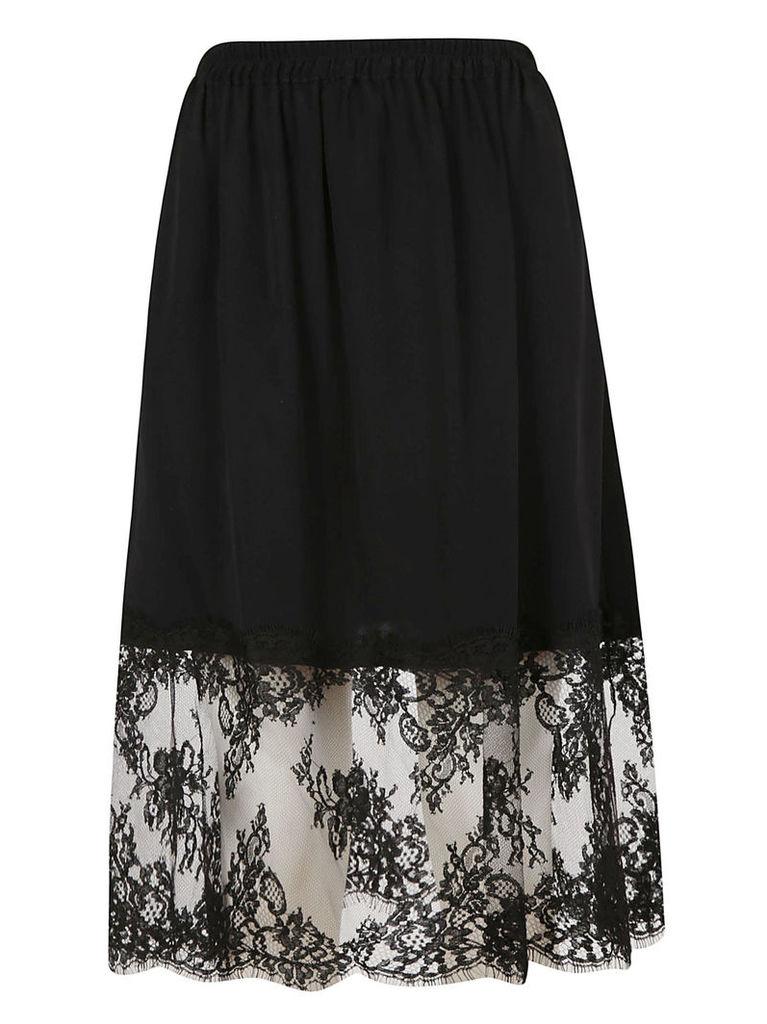 Msgm Lace Panel Skirt