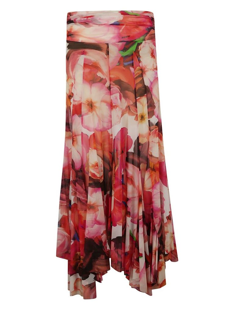 Msgm Floral Skirt