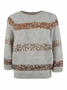 Brunello Cucinelli Sequin Embellished Sweater