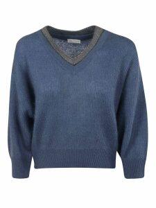Brunello Cucinelli Beaded Collar Sweater