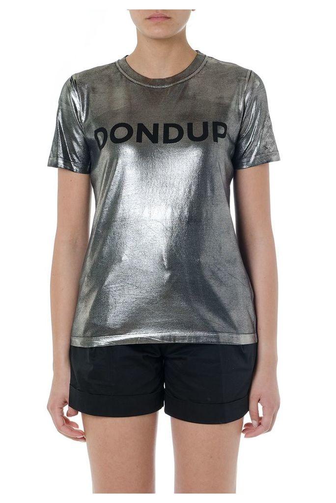 Dondup Black & Grey Elastic Cotton Ogo T-shirt