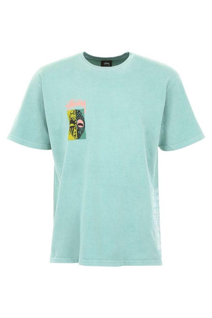 Stussy Mask Print T-shirt