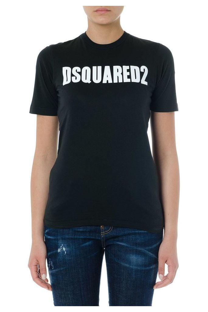 Dsquared2 Black Cotton Logo T-shirt