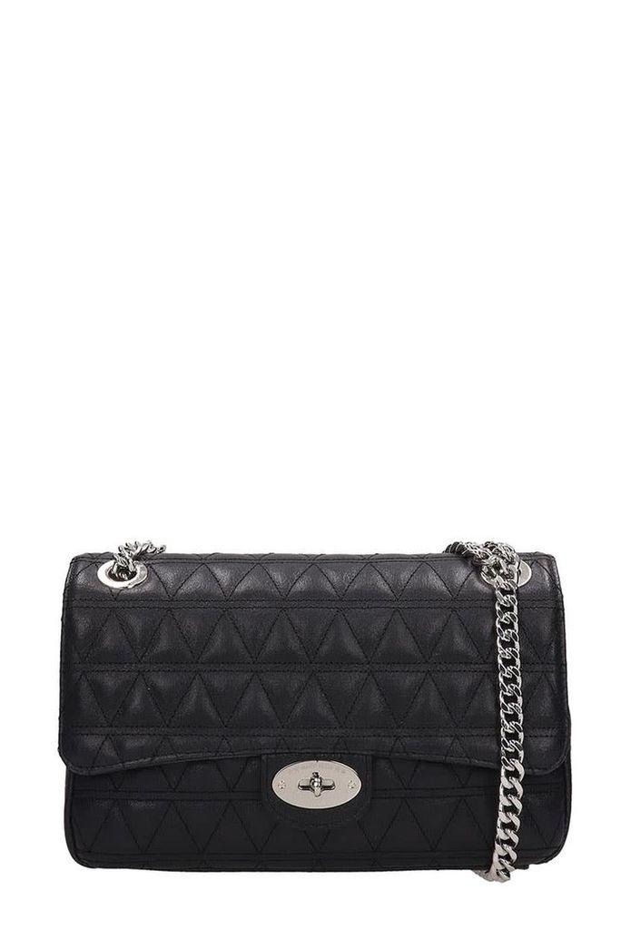 Marc Ellis Black Quilted Leather Pilar M Bag