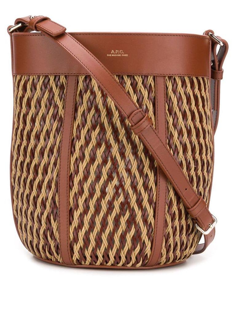 A.p.c. Woven Bucket Bag