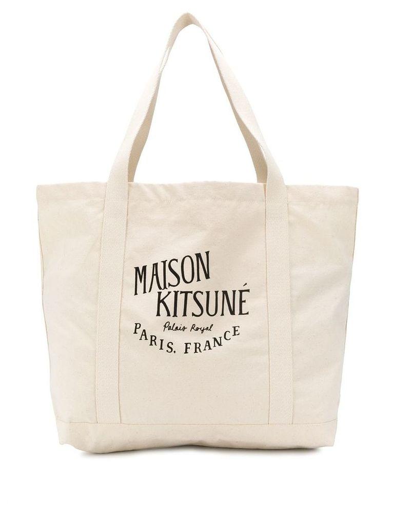 Maison Kitsuné Printed Shopper Bag