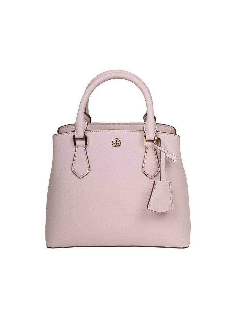 Tory Burch Robinson Small Handbag In Pink Leather