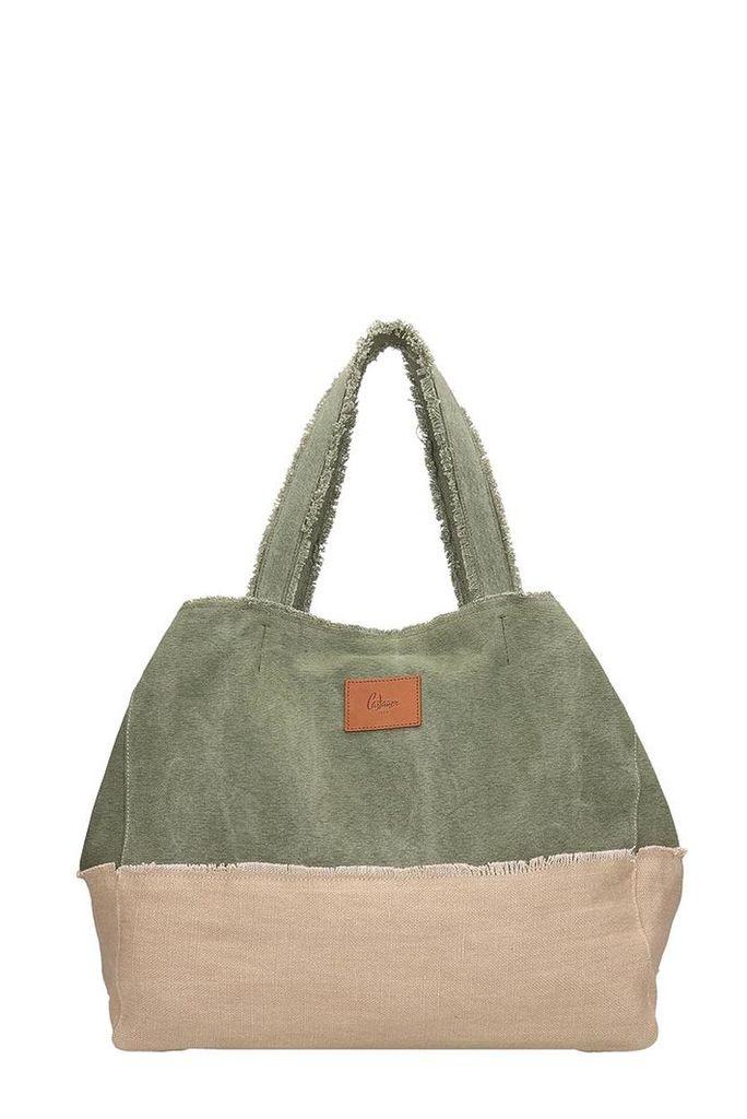 Castañer Green Canvas Bag