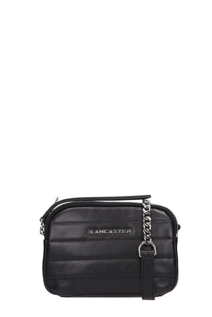 Lancaster Paris Black Quilted Leather Mini Parisien Coutur Bag