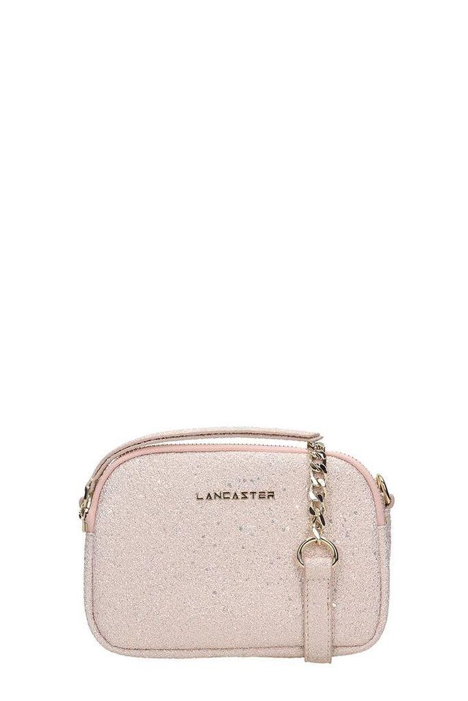 Lancaster Paris Pink Glitter Mini Crossbody Bag