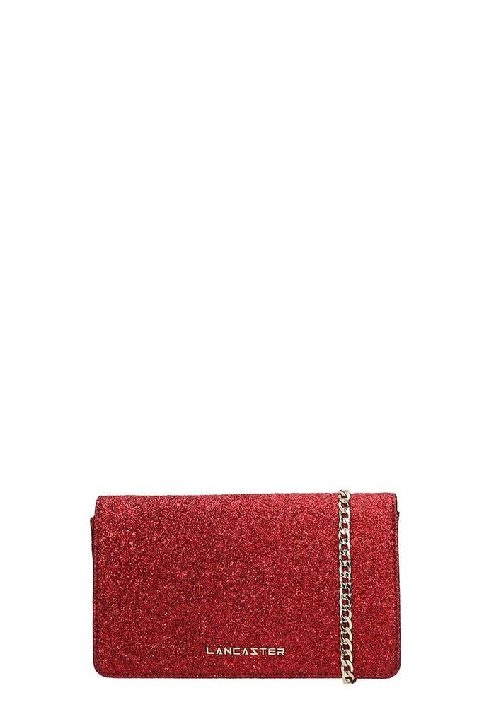 Lancaster Paris Red Glitter Actual Shiny Bag