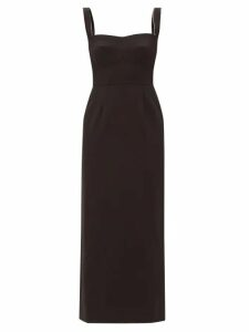 Anaak - Camilla Gathered Cotton Gauze Dress - Womens - Blue