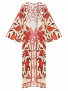 Anaak - Airi Banded Cotton Poplin Maxi Dress - Womens - Navy