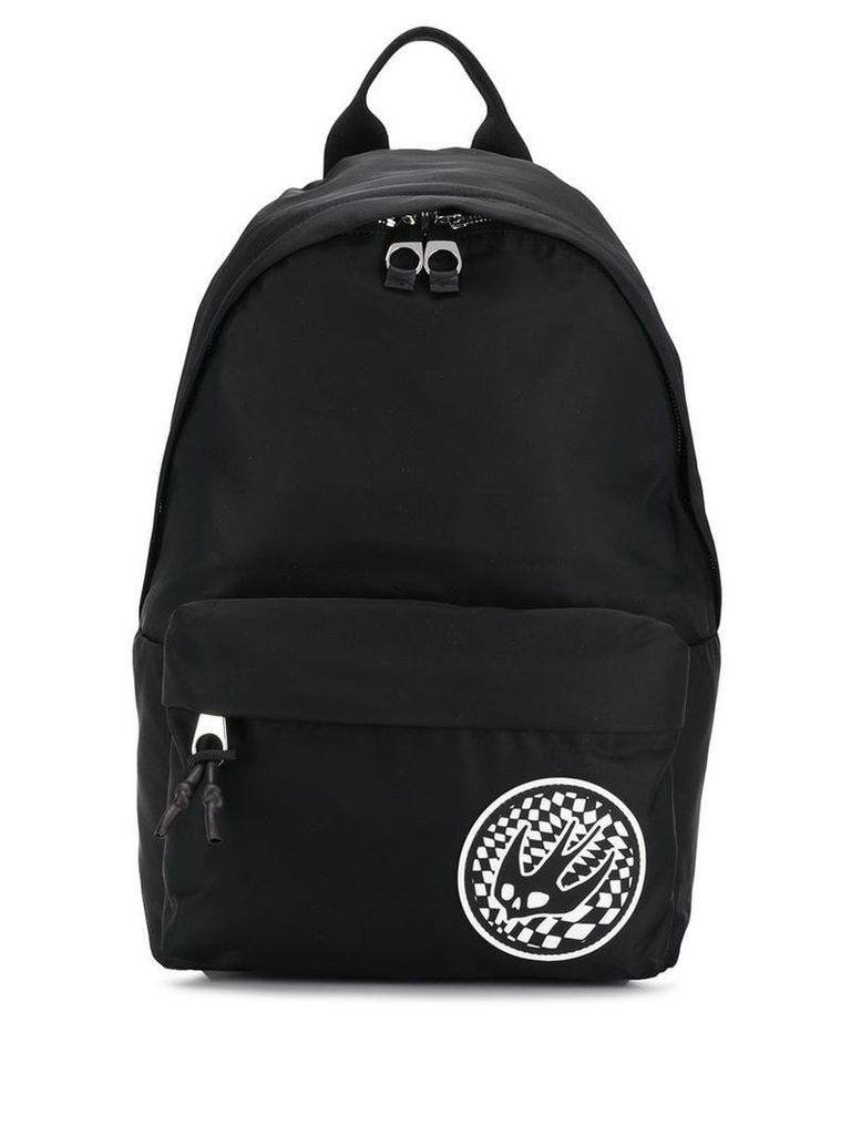 McQ Alexander McQueen contrast Swallow patch backpack - Black