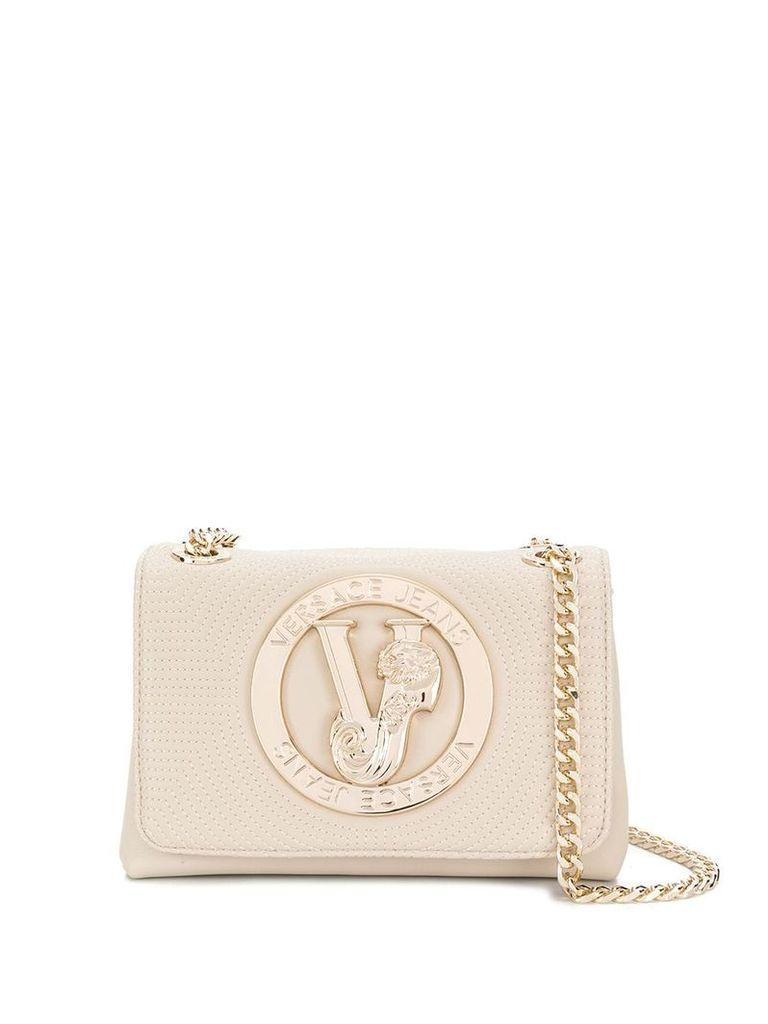 Versace Jeans logo cross-body bag - Neutrals