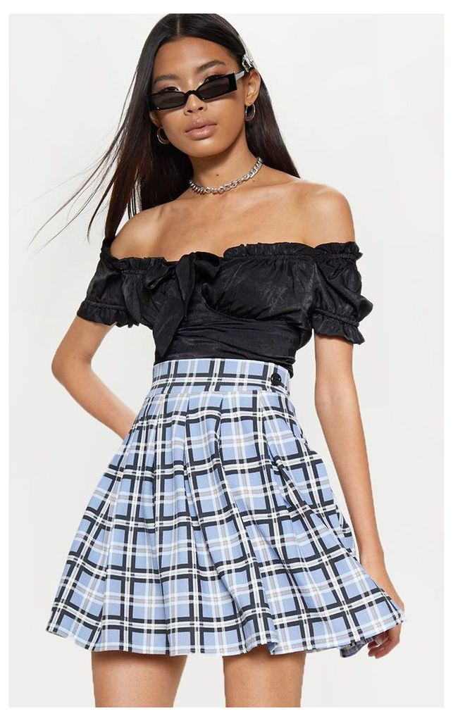 Pastel Check Pleated Tennis Skirt, Multi