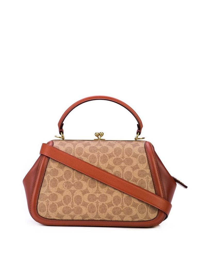 Coach patterned tote bag - Brown