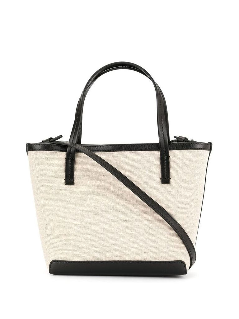 The Row two-tone mini tote - Neutrals