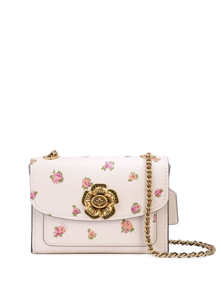 Coach floral print crossbody bag - White