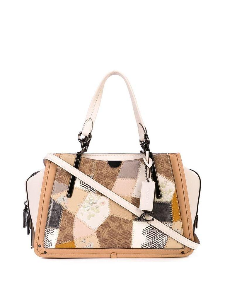 Coach patchwork-style shoulder bag - White