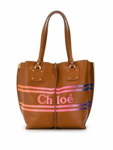 Chloé medium Vick logo tote - Brown