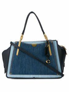 Coach contrast panel shoulder bag - Blue