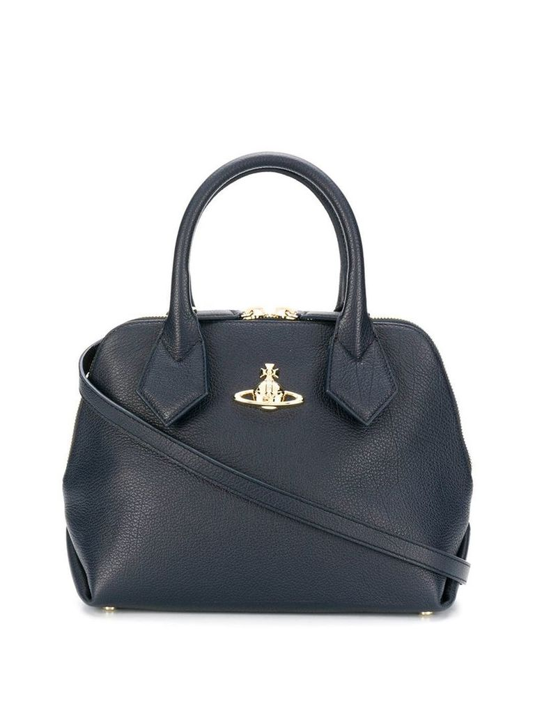 Vivienne Westwood logo plaque tote bag - Blue