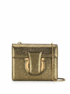 Salvatore Ferragamo logo shoulder bag - Gold
