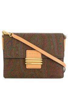 Etro paisley print shoulder bag - Brown