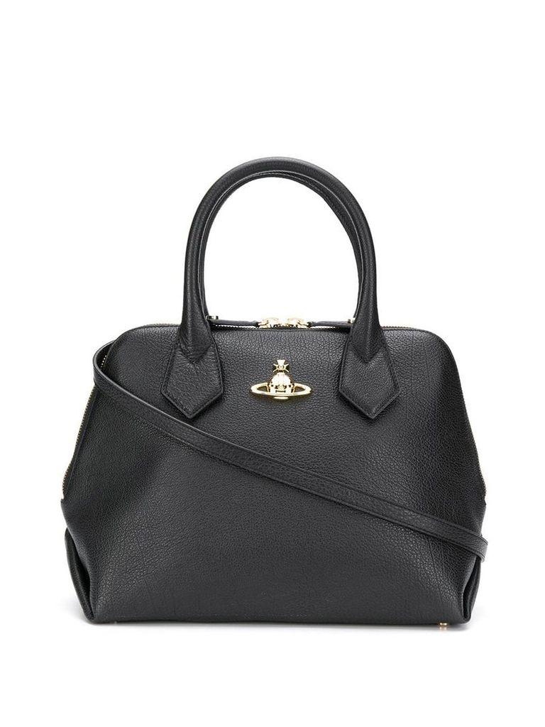 Vivienne Westwood logo plaque tote bag - Black