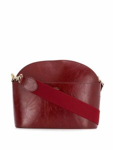 A.P.C. curved crossbody bag - Red