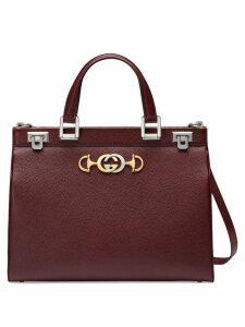 Gucci Gucci Zumi grainy leather medium top handle bag - Red