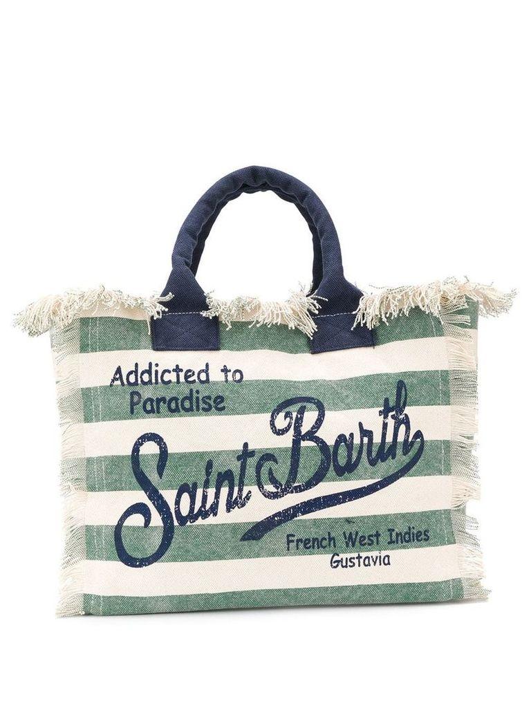 Mc2 Saint Barth Vanity striped beach bag - Neutrals