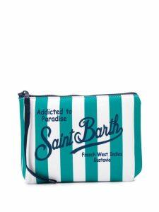 Mc2 Saint Barth Aline striped pouch - Green