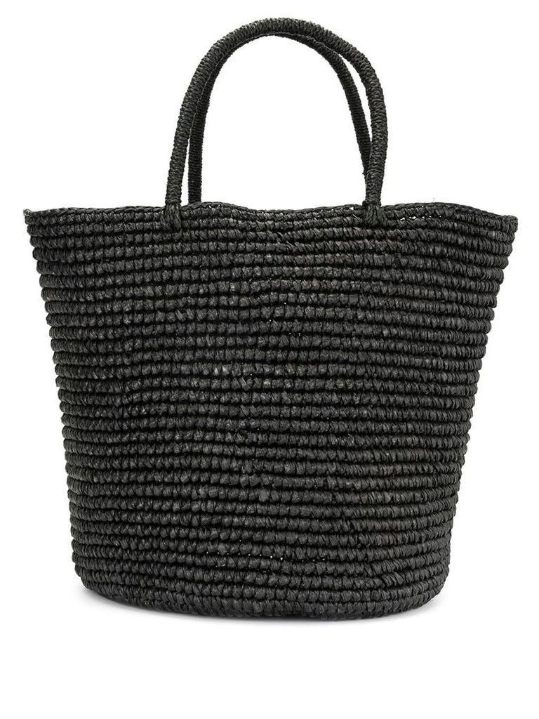 Sensi Studio woven maxi tote bag - Black
