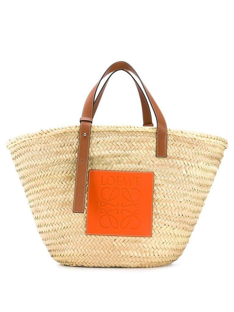 Loewe straw tote bag - Neutrals