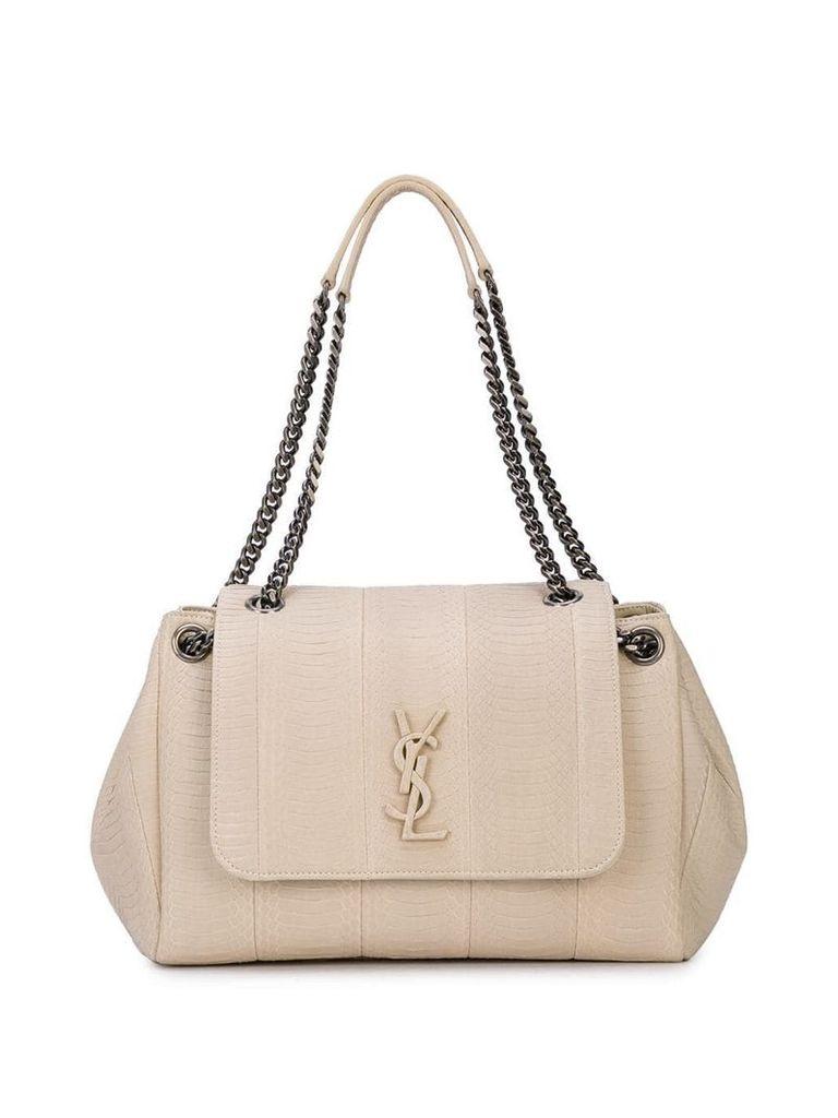 Saint Laurent leather shoulder bag - White