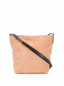 Ann Demeulemeester embossed logo crossbody bag - Pink