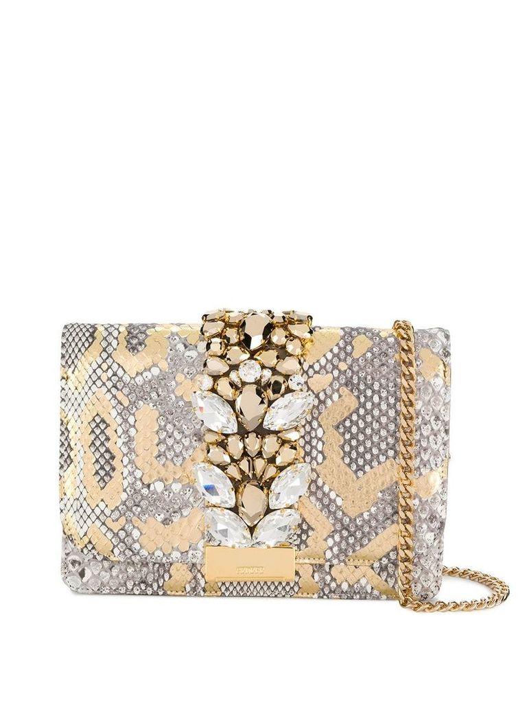 Gedebe Cliky python shoulder bag - Gold