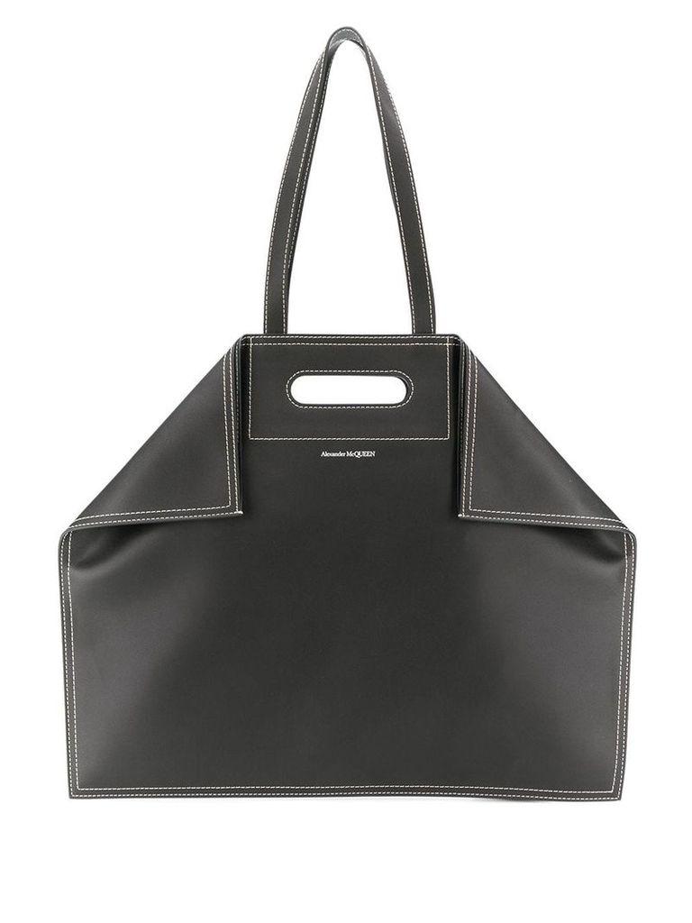 Alexander McQueen calf leather shopper bag - Black