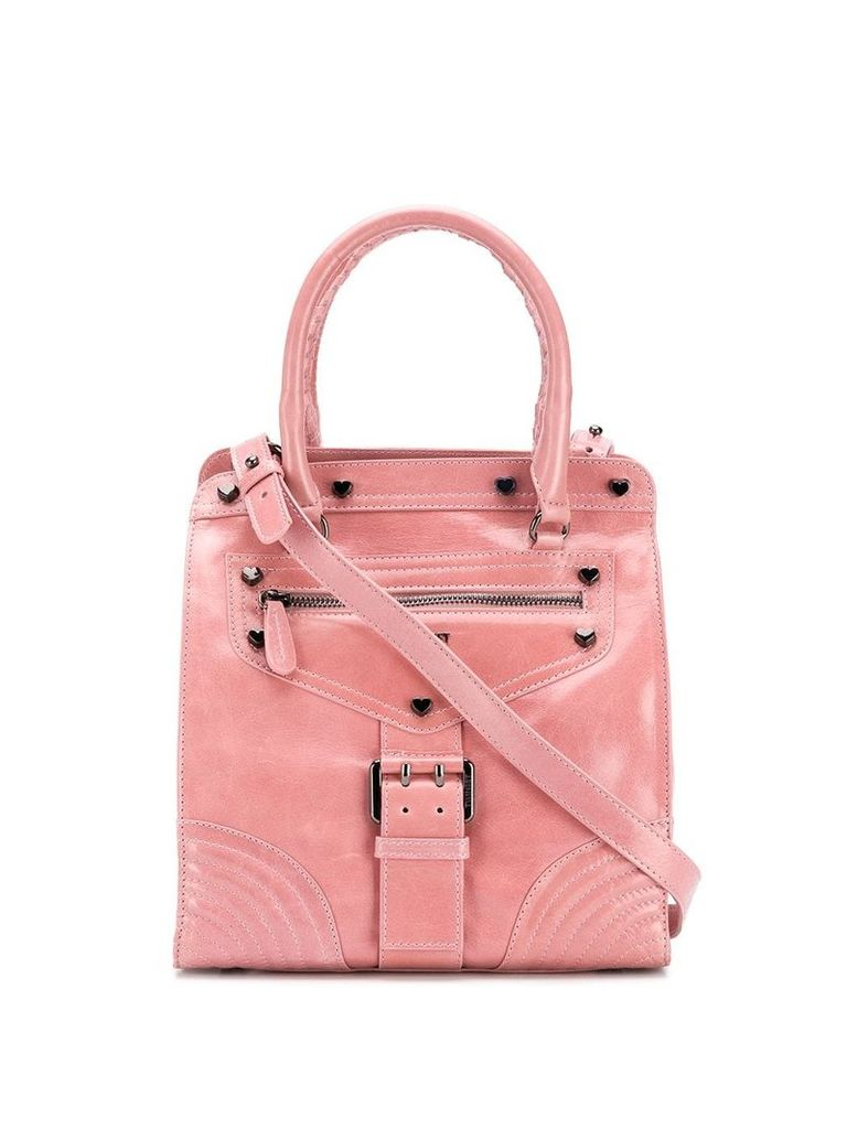 Twin-Set buckled strap tote - Pink