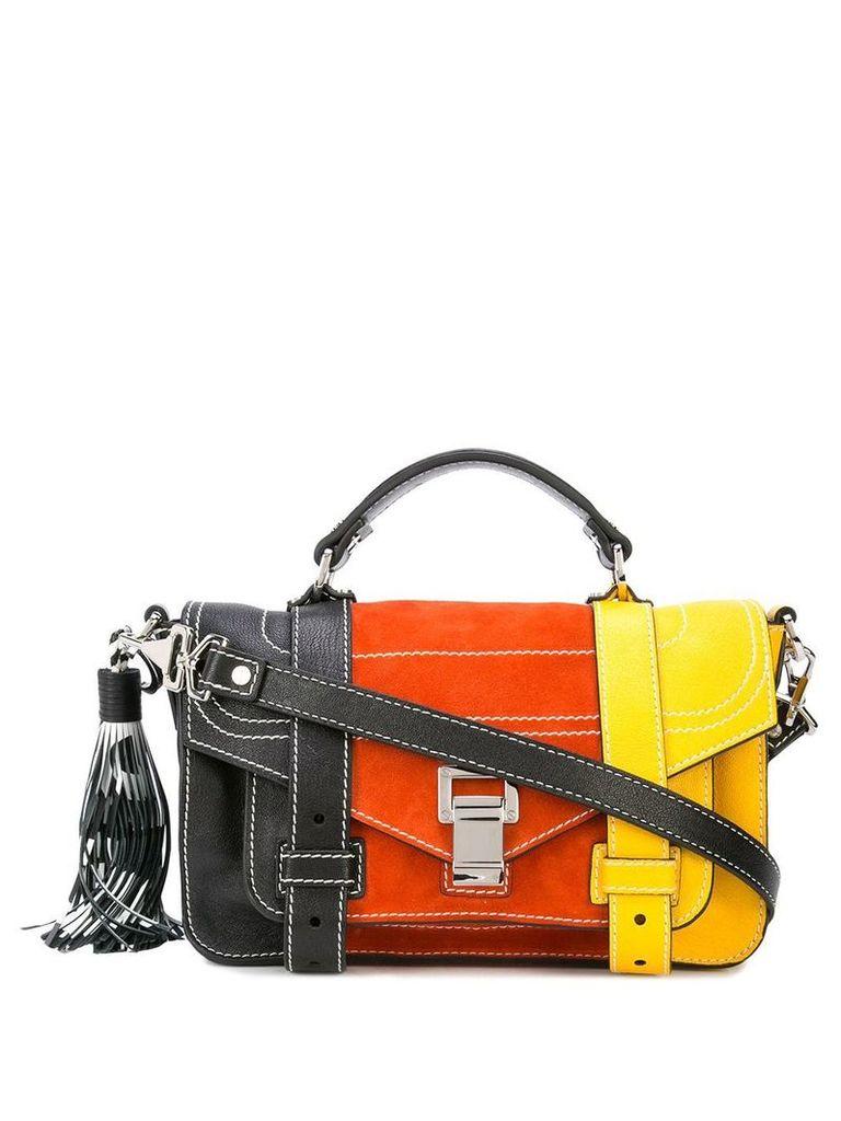 Proenza Schouler Colorblock PS1+ Tiny - Black