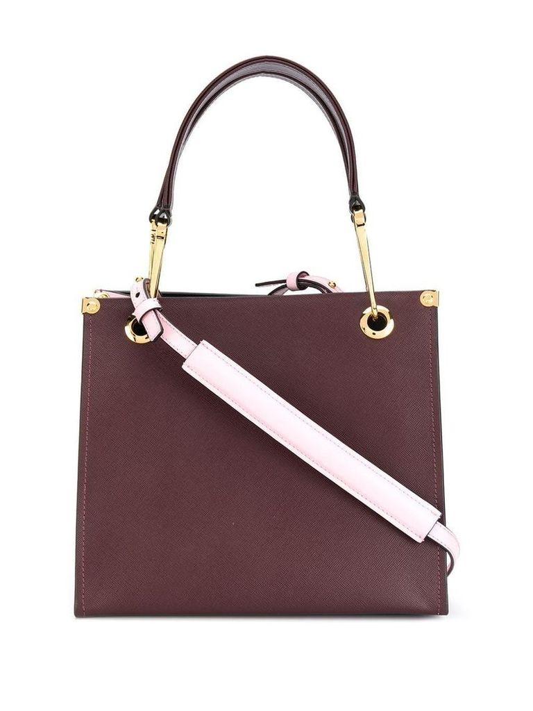 Marni colour block tote bag - Red